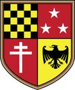 Coat of Arms Eagle Cross Stars Vector Royalty Free Stock Photo