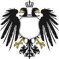 Coat arms escutcheon double headed eagle Stock Photos