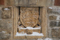 Coat of arms in the folly at the MacKenzie King estate, Gatineau Royalty Free Stock Photo