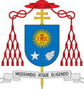 Coat arms jorge mario bergoglio pope francis i current pope catholic church Royalty Free Stock Image
