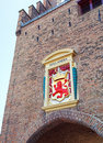 Coat of the arms of netherland at gate hague netherlands binnenhof Stock Images