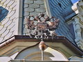 Coat of arms of russia old russian on the church in the city yalta Royalty Free Stock Image