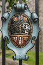 Coat of Arms of Saint Patrick Cathedral, Dublin Ireland. Royalty Free Stock Photo