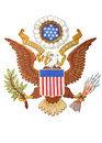 Coat of arms of United States of America Royalty Free Stock Photo