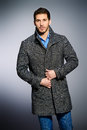 Coat and jeans Royalty Free Stock Photo