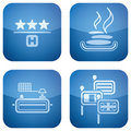 Cobalt 2D Squared Icons Set: Hotel Stock Photos