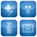 Cobalt 2D Squared Icons Set: Hotel Stock Photo