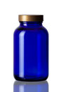 Cobalt blue bottle Royalty Free Stock Photo