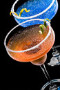 Cobalt and Peach Margarita Royalty Free Stock Photo