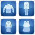 Cobalt Square 2D Icons Set: Man's Clothing Stock Photo