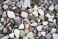 Cobble background a rock with colorful rocks Stock Photos