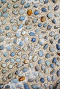 Cobble floor colorful stone background Royalty Free Stock Photo