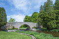 Cobble stone bridge at webster falls park ontario canada Stock Photo