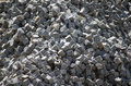 Cobble stones abstract industry background Royalty Free Stock Photos