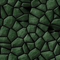 Cobble stones irregular mosaic pattern seamless background - pavement dark green natural colored