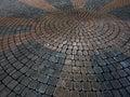 Cobble Stones Placer Rocks Pattern Sidewalk Patio Royalty Free Stock Photo