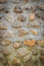 Cobble texture close up old background Royalty Free Stock Images