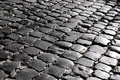 Cobbled pavement detail in anagni italy Stock Images