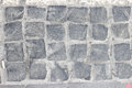 Cobbled pavement made of granite cubes Royalty Free Stock Photo