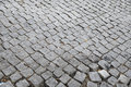 Cobbled road detail of a porto portugal Royalty Free Stock Photography