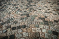 Cobbled road a surface background Stock Images