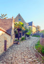 Cobbled street in Aquitaine Royalty Free Stock Photo