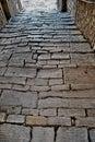 Cobbled street  Motovun, Istria ,Croatia Royalty Free Stock Photo