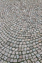 Cobbled street paving stones texture closeup Stock Photography