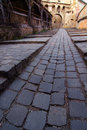 Cobbled strteet Royalty Free Stock Photo