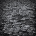 Cobbles abstract background monochrome Stock Photo