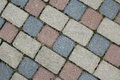 Cobbles. Stone road pattern Royalty Free Stock Photo