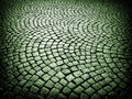 Cobblestone background beautiful old urban paved street in france Royalty Free Stock Photos