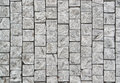 Cobblestone background full frame detail of grey cobblestones Stock Image