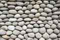 Cobblestone background image of grey at day Royalty Free Stock Images