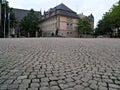 Cobblestone courtyard Royalty Free Stock Photo