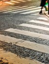 Cobblestone crosswalks, Paris, France Royalty Free Stock Photography