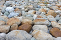 Cobblestone many river pebbles close up Stock Photo