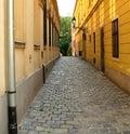 Cobblestone narrow street