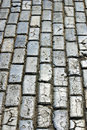 Cobblestone an old street in san juan puerto rico Royalty Free Stock Photography