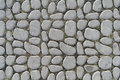 Cobblestone oval stones on a ground Stock Photography