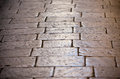 Cobblestone Pavement Close Up Background Stock Photography