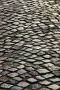 A cobblestone road Stock Image