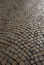 Cobblestone road background Royalty Free Stock Photos