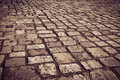 Cobblestone a road in dublin ireland Stock Photos