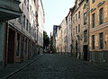 Cobblestone road old Tallinn Royalty Free Stock Photo