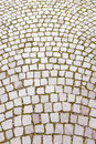 Cobblestone road street textured background Stock Photos