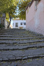 Cobblestone stairs in ronda a city of the province of malaga andalusia spain ronda is situated in a very mountainous area about m Royalty Free Stock Photos