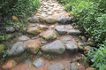 Cobblestone steps in the park Stock Photography