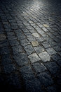 Cobblestone street as a background Stock Images