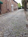 Cobblestone street charleston charming exquisite Royalty Free Stock Image